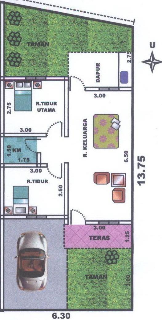rumah dijual di kota malang type 60 90 2 unit sisa 1 unit